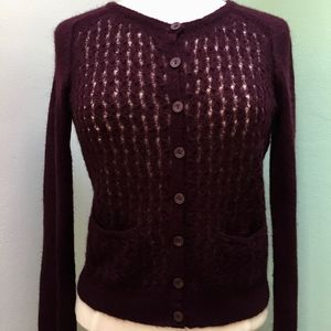 Anthropologie Guinevere Lace Lightweight Cardigan